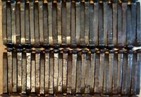 60 HC Railroad Spikes, Straight, Wire Brushed, Oiled, Knives, Weld, (NICE) .90ea