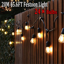 20M Antique Festoon/ Party/ Wedding Outdoor Cafe Pergola String Lights Bulb Kit