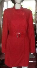 Red Double Breasted Coat With Belt From Fenn Wright Manson Size 14