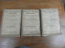 Abbé MIGNE / ENCYCLOPEDIE THEOLOGIQUE Dictionn Droit 1849 Complet 3 volumes in-4