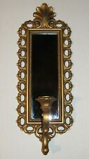 Mid Century Hollywood Regency French Rococo 1970s Smoky Mirror Sconce