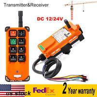 12/24V Transmitter&Receiver Hoist Crane Radio Wireless Industrial Remote Control
