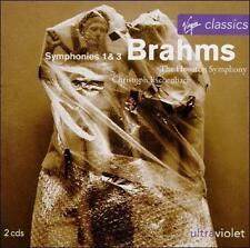 Brahms: Symphonies Nos. 1 & 3 (CD, May-1995, 2 Discs, Virgin)