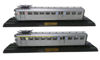 Lot de 2 Automotrices SNCF Z-3701 BUDD de 1938 Ho 1/87 Train Locomotive Atlas