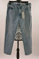 AG-ED DENIM Women's Blue The Prima Crop Cigarette Size 27