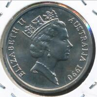 Australia, 1990 Ten Cents, 10c, Elizabeth II - Gem Uncirculated