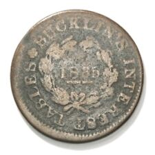 Bucklin's Interest Tables (HT# 354)  One Cent Hard Times Token