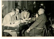Paris 1949, délégation polonaise, UNESCO  Vintage silver print Tirage argentiq