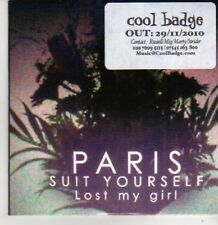 (BR91) Paris Suit Yourself, Lost My Girl - DJ CD