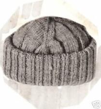 Vintage Knitting PATTERN to make Men's Beanie Snow Ski Hat -NOT a finished item!