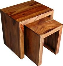 BRAND NEW INDIAN SHEESHAM Wood  Ganga Nest of Table 2 /Side table