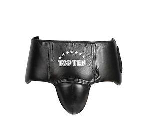 Tiefschutz Pro von Top Ten aus Leder. Gr. S/M u. L/XL. Boxen, SV, bester Schutz