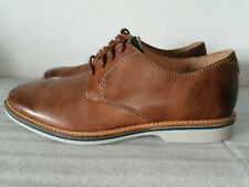 CLARKS ATTICUS LACE MENS TAN LEATHER LACE UP FLAT CASUAL SHOES SMART UK SIZE 7.5