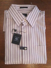 Joseph Abboud Lt. Purple Stripe Cotton Elite Dress Shirt Sz 15 32/33
