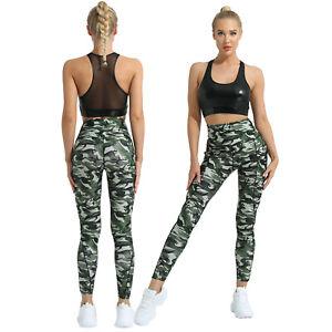 2Pcs Women's Sports Yoga Suit Crop Tops+Leggings Panties Fitness Workout Sets