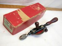 Vintage Millers Falls Hand Drill Egg Beater Style Type no. 77A in 77 Box