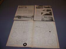 VINTAGE..DOUGLAS DC-3... .45 S/O R-C PLANS..RARE! (109P)