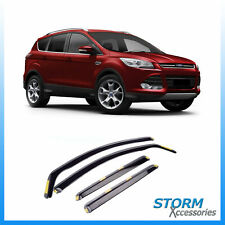 WIND DEFLECTORS 4pc SET - INTERNAL FIT - TINTED FOR FORD KUGA 5 DOOR 2012-2019