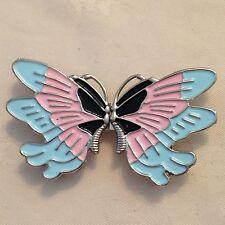 In metallo e smalto 2 PEZZI fibbia a forma di farfalla # 314