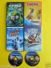 dvds film happy feet sansone marmaduke l'orso yoghi g-force ratatouille cartoons