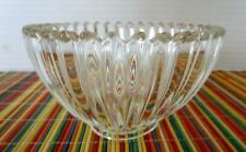 "Vintage 5"" Clear Glass Ribbed Bowl Heavy Weight"