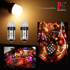 PA 20x #44 #47 #1847 BA9S 2 SMD LED Warm White Pinball Machine Light Bulb 6.3V