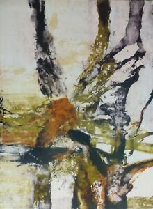 "Zao Wou-Ki 赵无极 ""Tree of Life"" Olympic Seoul Korea Chinese-French Artist"