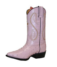 Women's Leather Cowboy Boots Ostrich Ladies Boots