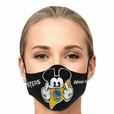 NBA Mickey Team Golden State Warriors Face Mask 3D Unisex 100% Cotton For Fans