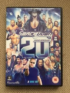 WWE WWF SMACKDOWN 20TH ANNIVERSARY DVD 2 Disc Set The Rock Undertaker Lesnar