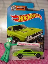 2016 i Hot Wheels '69 DODGE CHARGER 500 #84✰Sublime Green✰Night Burnerz✰Case N/P