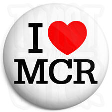 I Love MCR - 25mm Heart Button Badge - My Chemical Romance