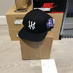Kill The Hype La Upside Down New York Yankees Reverse Black Hat Snapback Cap KTH