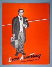 1950s Louis Armstrong & His Concert Group Souvenir Program Original Booklet