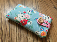 iPhone 6 / 6 Plus Handmade Fabric Padded Case - Cath Kidston Blue Clifton Rose
