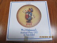 "Hummel Annual Plate 1983 in bas relief ""Postman"" Hum 276"