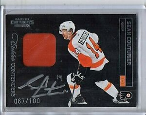 2011-12 Panini Contenders Sean Couturier RC Rookie Patch Auto On-Card #/100