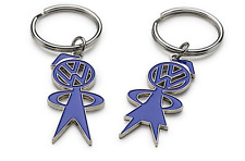 Genuine Volkswagen His and Hers Blue Matching Volkswagen Key Ring - 1H9087010