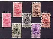 Venezuela Escudos Nueva Esparta valores año 1953 (DB-780)