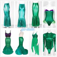 Adult Women Halloween Mermaid Tail Skirt Dress Fancy Costume Clubwear Cosplay
