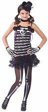 SKULL SKELETON SWEETIE CHILD HALLOWEEN COSTUME GIRL'S SIZE MEDIUM 8-10