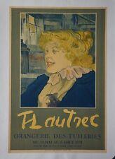 Affiche originale  entoilée : TOULOUSE LAUTREC - Musée de l'orangerie 1951
