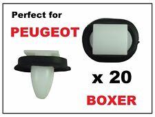 20 x PEUGEOT BOXER EXTERIOR SIDE MOULDING LOWER DOOR TRIM RUB BUMP STRIP CLIPS