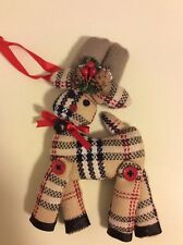 Cloth Reindeer Christmas ornament