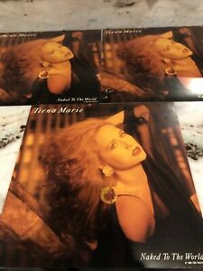 Teena Marie 3 Used Promo Album Flats Naked To The World 12inch By 12inch
