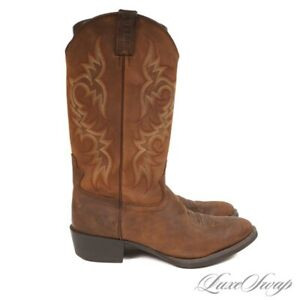 SOLID LNWOB Justin 2551 Brown Nubuck Sueded Leather Western Cowboy Boots 12 D