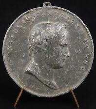 Médaillon médaille Napoléon Bonaparte Empereur & Roi Jean Pierre Droz 1809 medal