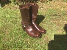 Mens Vintage Brown Vulcan Durango Motorcycle Boots Size 10