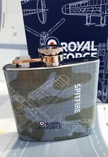 RAF SPITFIRE Fighter Hip Flast (New) in Presentation Box - Stainless Steel