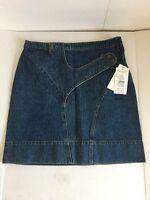 Harve Benard By Benard Holtzman Blue Denim Jean Skirt Above Knee New size 10